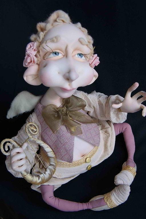 """Человечки ручной работы. Ярмарка Мастеров - ручная работа. Купить Текстильная кукла """"Ангел"""". Handmade. Ангел"""