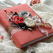 Сувениры и подарки handmade. Livemaster - original item Diary notes of peach coral. Handmade.