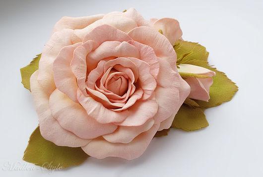 """Заколки ручной работы. Ярмарка Мастеров - ручная работа. Купить Заколка из роз """"Эльза"""". Handmade. Комбинированный, Заколка для прически"""