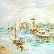 Картины и панно handmade. Livemaster - original item Pearl Bay - oil painting. Handmade.