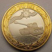 Сувениры и подарки handmade. Livemaster - original item engraved coins, tank is-2. Handmade.