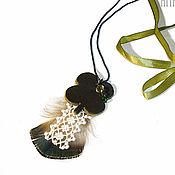 Украшения handmade. Livemaster - original item pendant Lucky clover. Handmade.