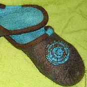 Обувь ручной работы. Ярмарка Мастеров - ручная работа Тапочки Бирюзовые. Handmade.