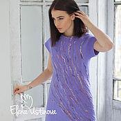 """Одежда ручной работы. Ярмарка Мастеров - ручная работа Валяное платье """"Violet. Вкус сирени"""". Handmade."""