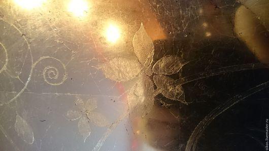 Зеркала ручной работы. Ярмарка Мастеров - ручная работа. Купить Состаренное зеркало выполненное из потали в ручную с орнаментом. Handmade. Комбинированный