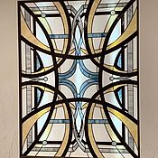 Для дома и интерьера handmade. Livemaster - original item Stained Glass Tiffany. Interior stained glass window in the niche. Handmade.