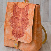 Сумки и аксессуары handmade. Livemaster - original item Backpack Fox. Handmade.