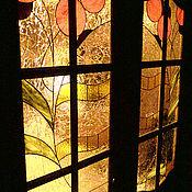 Для дома и интерьера ручной работы. Ярмарка Мастеров - ручная работа Витражные двери по Шехтелю. Handmade.