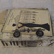 """Домики ручной работы. Ярмарка Мастеров - ручная работа Шкатулка - чайная коробка """"Музыка души"""". Handmade."""
