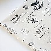 Материалы для творчества ручной работы. Ярмарка Мастеров - ручная работа Небеленый лен монохром. Handmade.