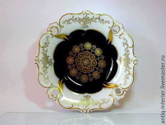 Винтажная посуда. Ярмарка Мастеров - ручная работа. Купить Большое блюдо Echt Kobalt. Handmade. Фарфор посуда, блюдо