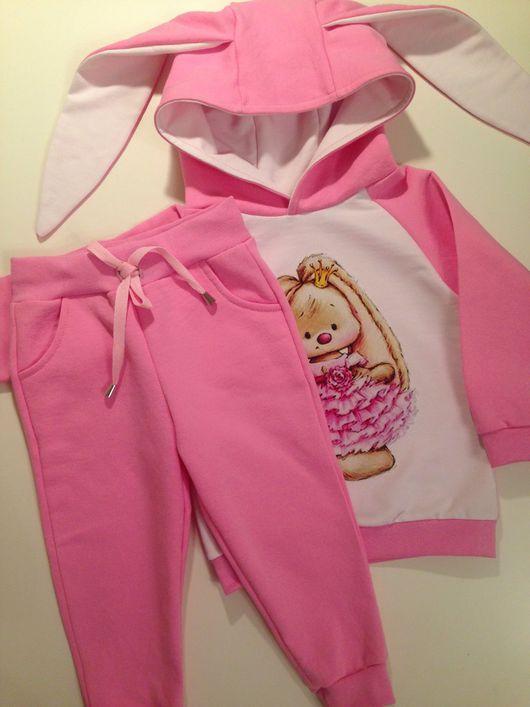 """Одежда для девочек, ручной работы. Ярмарка Мастеров - ручная работа. Купить Костюм """"Розовая зайка"""". Handmade. Костюм, костюм детский"""