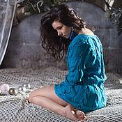 Одежда ручной работы. Ярмарка Мастеров - ручная работа Свитер вязаный женский из 100% шерсти ручной работы Лагуна. Handmade.