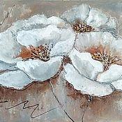 Картины и панно handmade. Livemaster - original item Oil painting for the interior White kosmeya. Handmade.