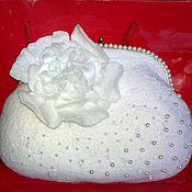 """Свадебный салон ручной работы. Ярмарка Мастеров - ручная работа сумочка валяная  """"Нежность"""". Handmade."""