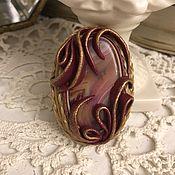 Украшения handmade. Livemaster - original item Brooch CRIMSON RING. Handmade.