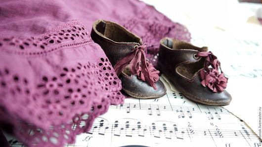 Одежда для кукол ручной работы. Ярмарка Мастеров - ручная работа. Купить Немного пурпура. Туфельки для куклы.. Handmade. Коричневый