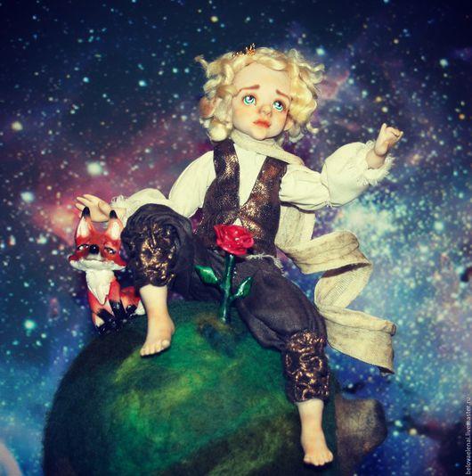 """Коллекционные куклы ручной работы. Ярмарка Мастеров - ручная работа. Купить Видео-курс """"Маленький принц"""". Handmade. Тёмно-бирюзовый"""