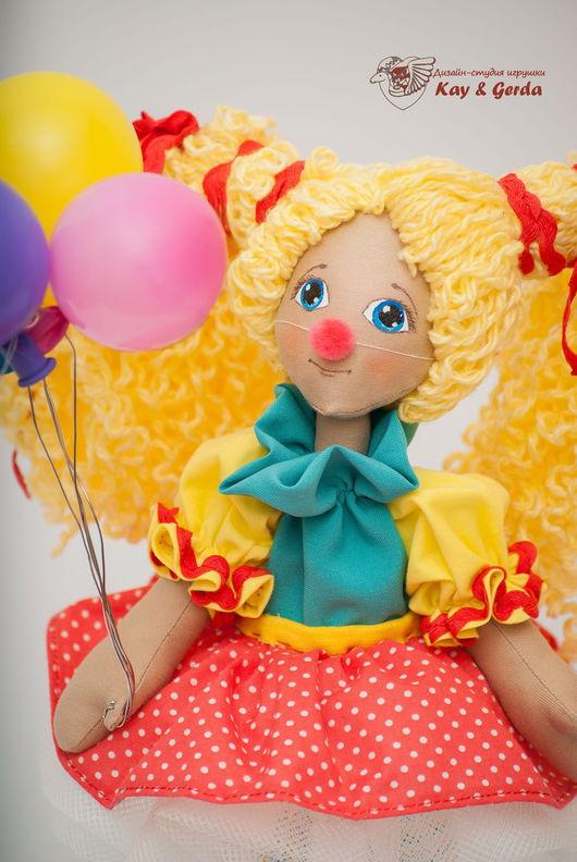 Коллекционные куклы ручной работы. Ярмарка Мастеров - ручная работа. Купить Клоунесса. Handmade. Клоунесса, подарок, пряжа