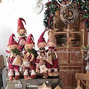 Чердачная кукла ручной работы. Ярмарка Мастеров - ручная работа Чердачная кукла: Рождественский эльф. Новогодний гном.Christmas. Handmade.
