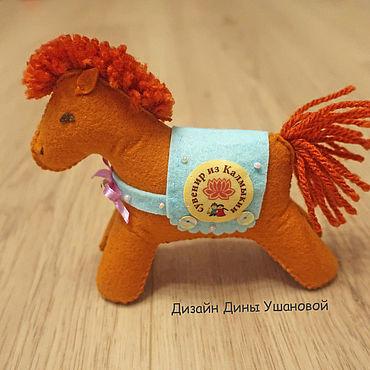 Куклы и игрушки ручной работы. Ярмарка Мастеров - ручная работа Лошади из фетра. Handmade.