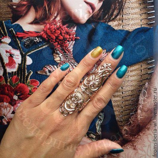 Кольца ручной работы. Ярмарка Мастеров - ручная работа. Купить Кольцо на весь палец, золото 585 (арт. К098). Handmade. Желтый