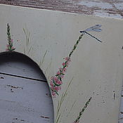 """Для дома и интерьера ручной работы. Ярмарка Мастеров - ручная работа Рамка """" Стрекозы """". Handmade."""