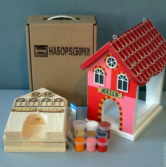 Экстерьер и дача ручной работы. Ярмарка Мастеров - ручная работа. Купить Кормушка для птиц EUROPE-RED (набор-конструктор с красками). Handmade.