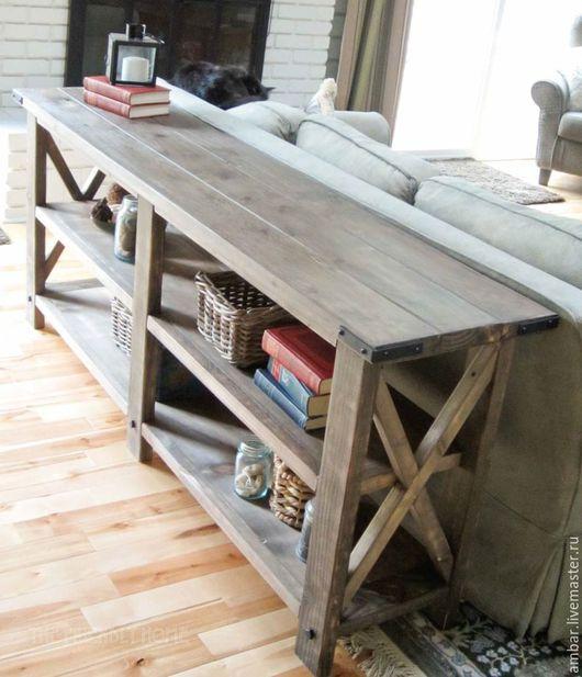 Мебель ручной работы. Ярмарка Мастеров - ручная работа. Купить Х-консоль для дивана. Handmade. Комбинированный, сосна, хранение мелочей