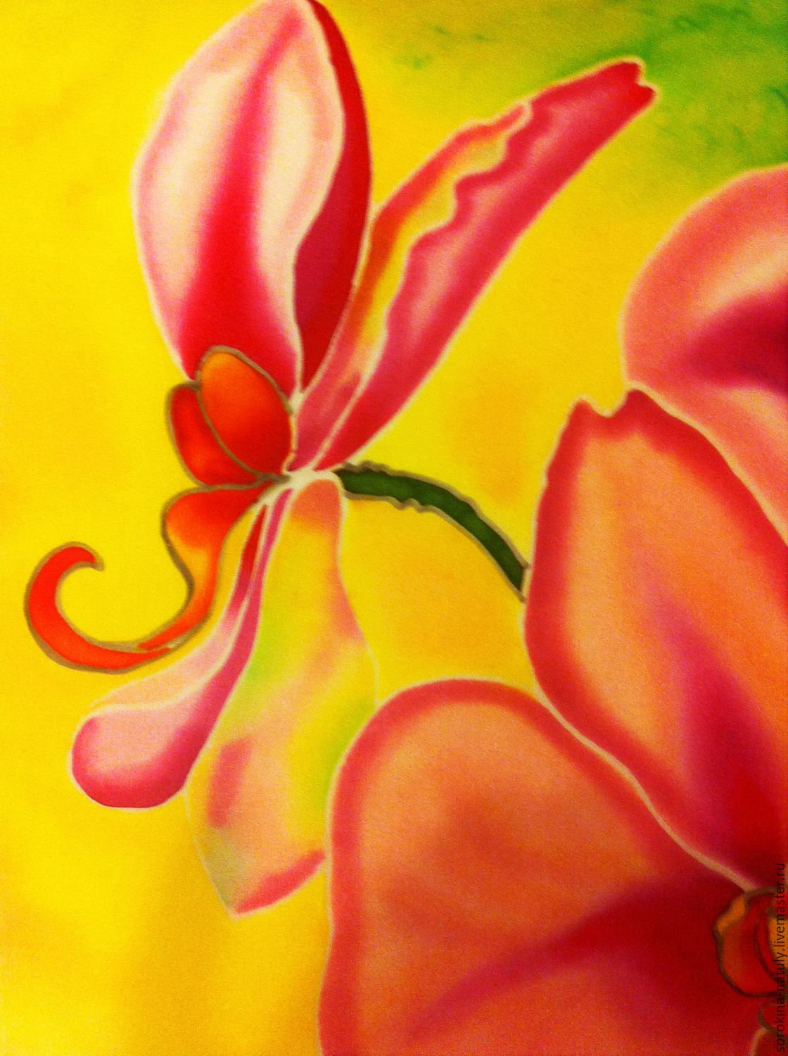 Batik Painting The Sophistication Of Orchid 2 Shop Online On