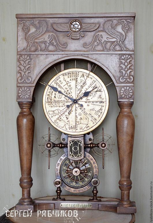 Часы для дома ручной работы. Ярмарка Мастеров - ручная работа. Купить Часы настенные декоративные «Загадки цивилизаций. Вавилон». Handmade.