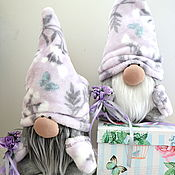handmade. Livemaster - original item Plush lavender Dwarf toy, gift house charm. Handmade.