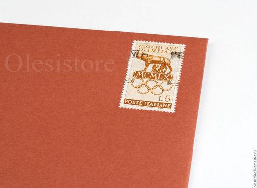 Коричневый конверт  145х100мм .