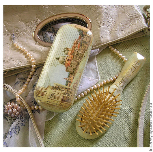 """Комплекты аксессуаров ручной работы. Ярмарка Мастеров - ручная работа. Купить комплект """"Венеция у меня в сумочке"""". Handmade. Голубой"""