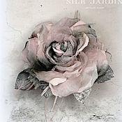 Украшения handmade. Livemaster - original item Copy of SILK FLOWERS. Chiffon and Silk Rose Brooch. Handmade.