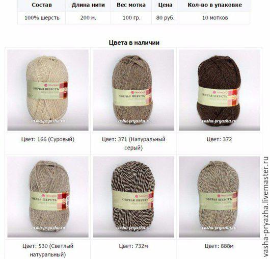 Вязание ручной работы. Ярмарка Мастеров - ручная работа. Купить Овечья шерсть. Handmade. Комбинированный, пряжа овечья шерсть