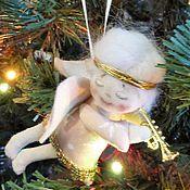 Куклы и игрушки ручной работы. Ярмарка Мастеров - ручная работа елочная игрушка Рождественский Ангел !Распродажа! Скидка 50%. Handmade.
