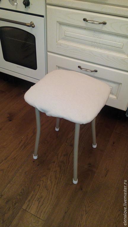Кухня ручной работы. Ярмарка Мастеров - ручная работа. Купить Чехол на стул из льна. Handmade. Бежевый, чехол на стул, лен
