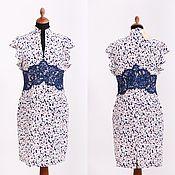 Одежда handmade. Livemaster - original item silk dress with lace. Handmade.