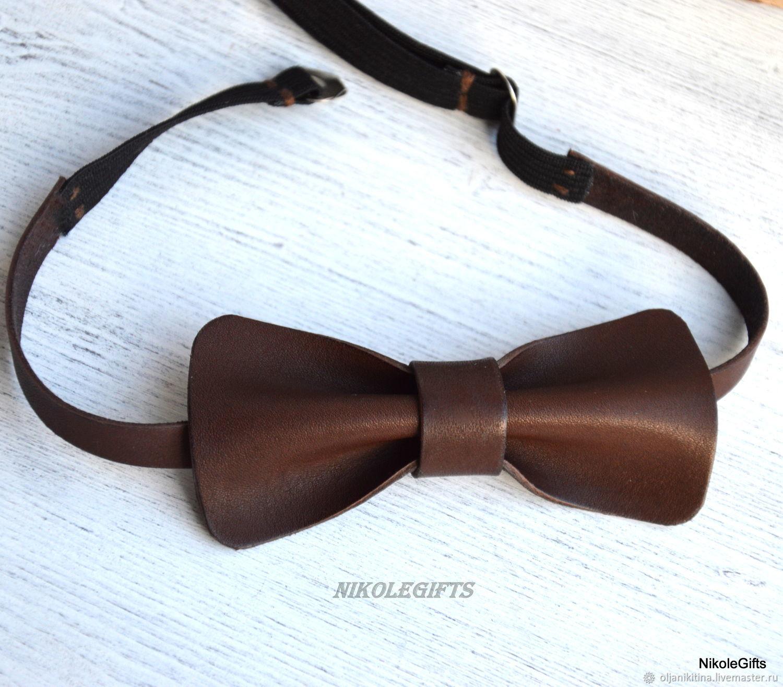 Кожаный галстук-бабочка, Галстуки, Санкт-Петербург,  Фото №1