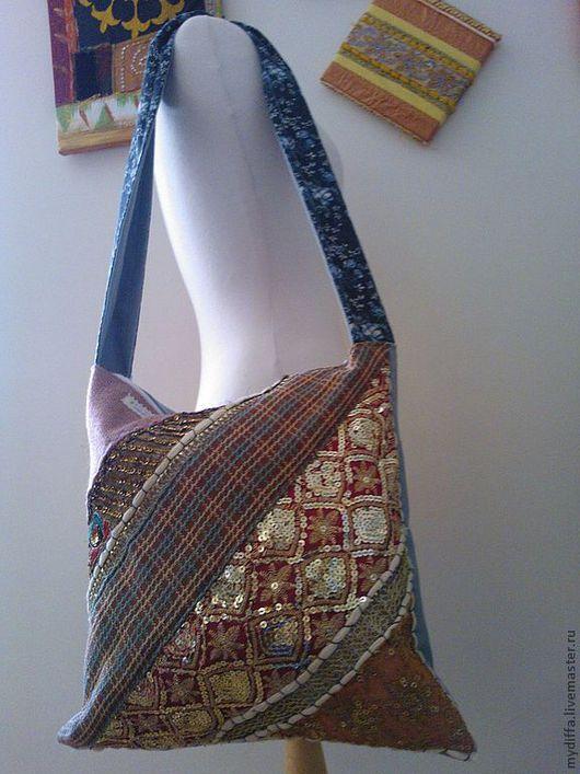 Сумки и аксессуары ручной работы. Ярмарка Мастеров - ручная работа. Купить Бохо-Этно-сумка с индийской вышивкой в технике Зари. Handmade.