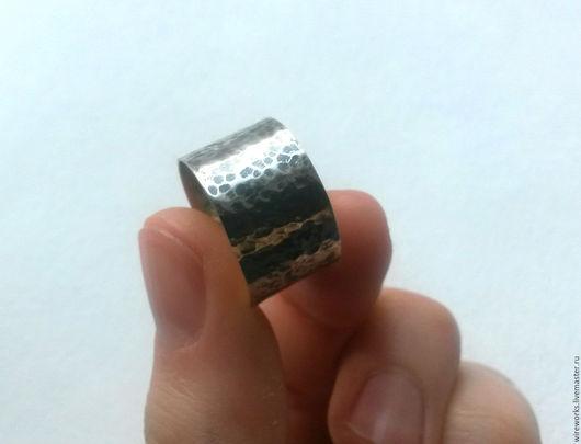 """Кольца ручной работы. Ярмарка Мастеров - ручная работа. Купить Кольцо """"Lunar"""". Handmade. Серебряный, кованое кольцо, кольцо с чернением"""