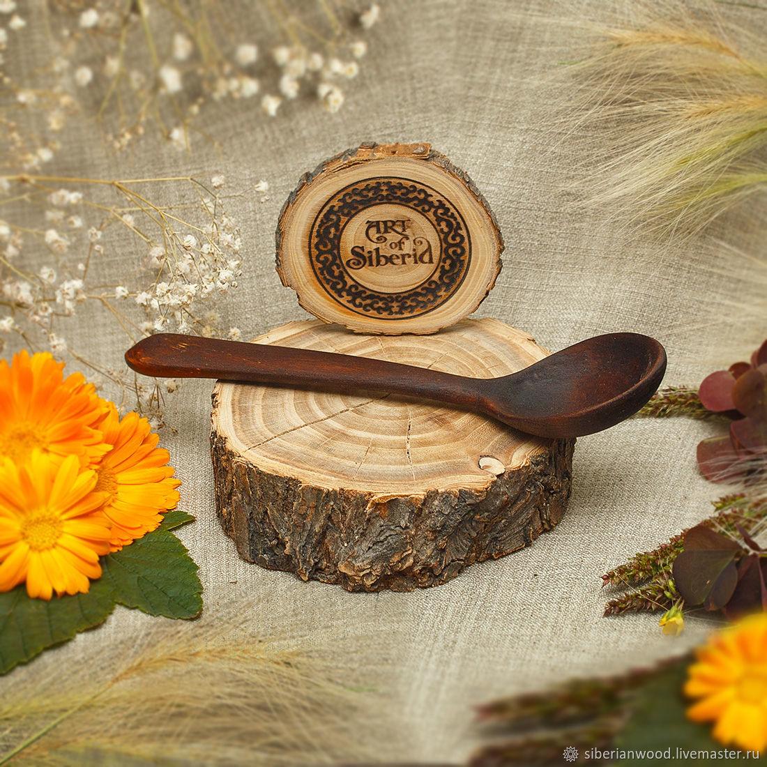 Ложка деревянная 160 мм из Сибирского Кедра #L16, Ложки, Новокузнецк,  Фото №1