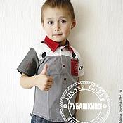 """Работы для детей, ручной работы. Ярмарка Мастеров - ручная работа Рубашка """"Сто первый из Рубашкино"""". Handmade."""
