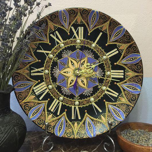 Часы для дома ручной работы. Ярмарка Мастеров - ручная работа. Купить Виола. Handmade. Сиреневый, часы интерьерные