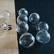 Бусины ручной работы. Ярмарка Мастеров - ручная работа Бусины lampwork прозрачные пустые внутри 13мм. Handmade.