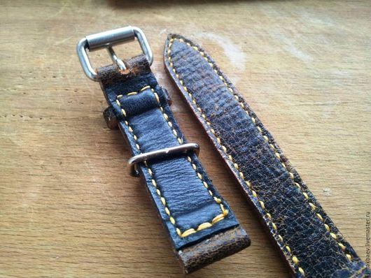 Пояса, ремни ручной работы. Ярмарка Мастеров - ручная работа. Купить Кожаный ремешок 20 мм РУЧНОЙ РАБОТЫ. Handmade.