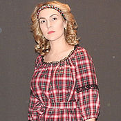 Одежда ручной работы. Ярмарка Мастеров - ручная работа Платье из итальянской шерсти П-107 А.. Handmade.