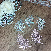 Материалы для творчества handmade. Livemaster - original item Cutting scrapbooking Fern Leaves-cardboard design. Handmade.