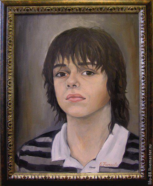 """Люди, ручной работы. Ярмарка Мастеров - ручная работа. Купить Портрет по фото на заказ - """"Дориан"""". Handmade. Бежевый"""